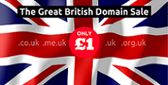 .UK Domain Names only £1/pa